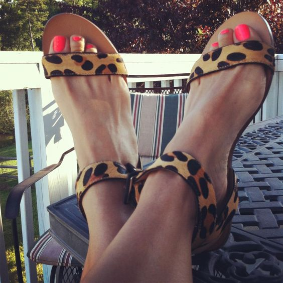 Like the Zara leopard sandals. Hate the toe nails.  They are gross!!!!! Cut those damn things.