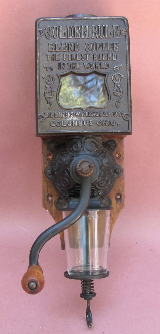 I have an old coffee mill in my kitchen. I think that they are beautiful. http://coffee-grinders.co.uk/manual-grinders/