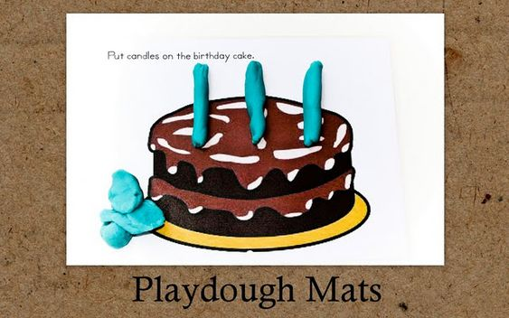 Activity sheets for kids to use with playdough, printable