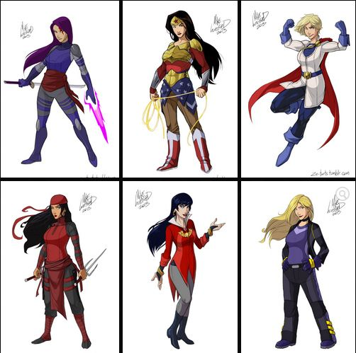 Fully-Clothed Female Superheroes | halloween ideas ...