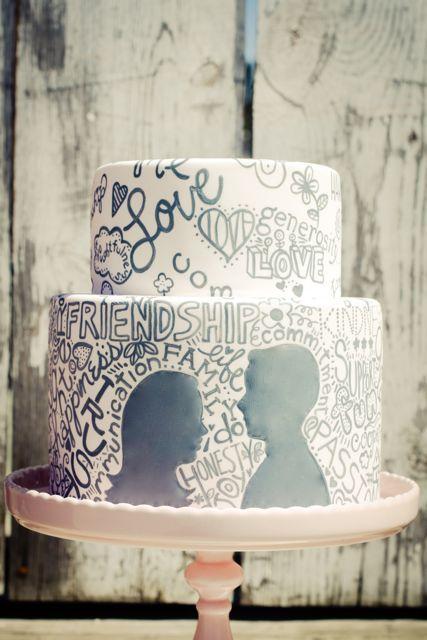 Bolo: História de amor #wedding #casamento