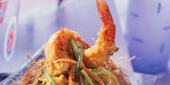 Crevettes panées au coco