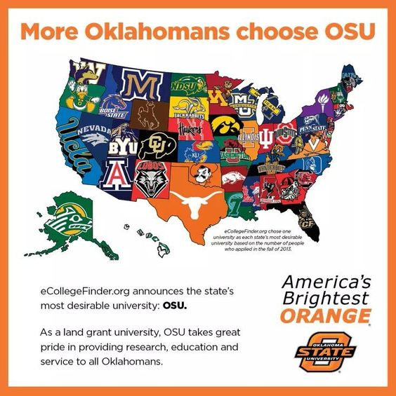 Most desirable in Oklahoma!! Go Pokes!! Suck on that Gooners!!!