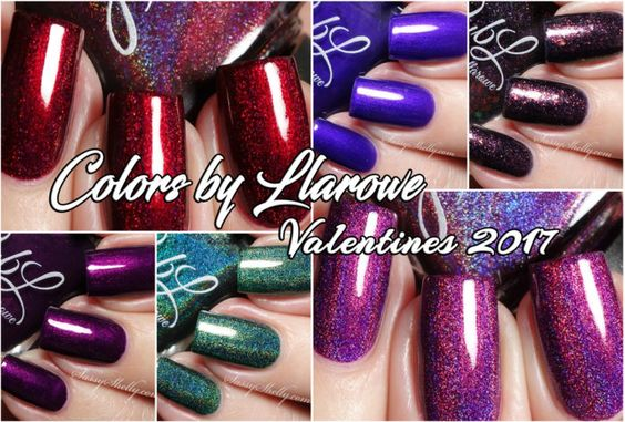 Colors by Llarowe - Valentines 2017 Collection - live swatches | Sassy Shelly