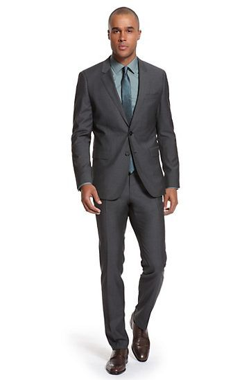 Dark grey suit, the go to black suit when you don't want black