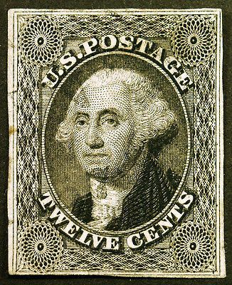 Classic #17 12c Black Imperf 1851 Pre Civil War Gem  – Classic Collector Stamp Sale Visit LittleArtTreasures.com