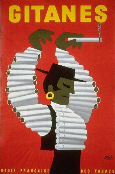 publicité cigarettes Gitanes, rouge