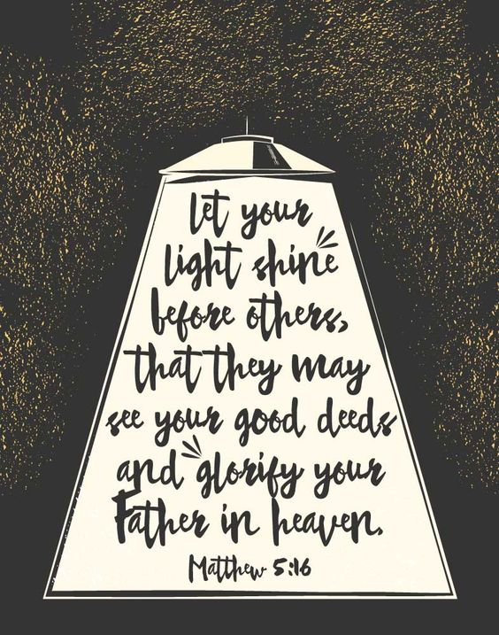 $5.00 Bible Verse Print - Let your light shine before others, that they may see your good deeds and glorify your Father in heaven Matthew 5:16  We need more of the light that comes from above. That light is contagious because when we see it we get a feeling that darkness can't overpower leaving us wanting to do more of what's good.  - Different size options available. #scriptureprint #letyourlightshine #childrensprint #christiandecor #seedsoffaith #plantinghisword: