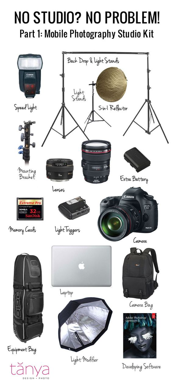 No Studio? No Problem! Part 1: What's in Tanya's Mobile Photography Studio Kit. Read it at SLR Lounge.
