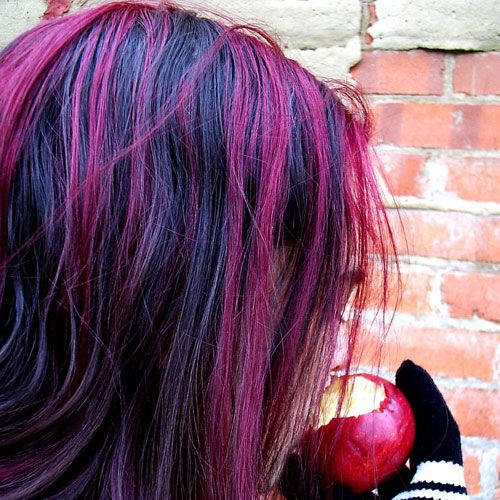 Purple Highlights It S All About The Hair Pinterest