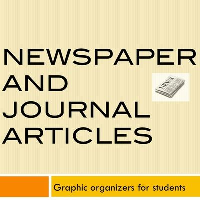 Graphic Organizers for Newspaper and Magazine Articles from DocRunning Education on TeachersNotebook.com -  (5 pages)  - Three graphic organizers for students to organize information related to newspaper and magazine articles.