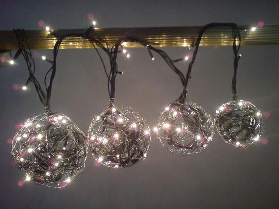 Esferas con luz de navidad decoracion y manualidades - Decoracion manualidades navidad ...