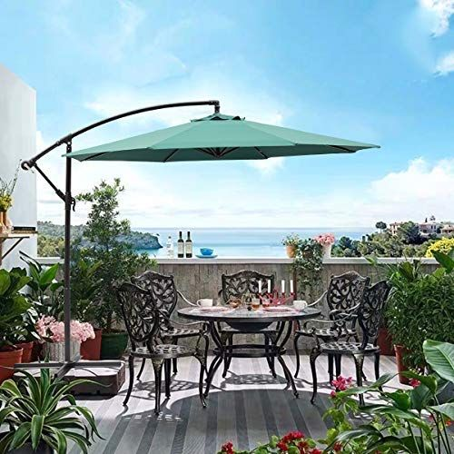 Sunnyard 10 Ft Cantilever Patio Umbrella Outdoor Offset H Https Www Amazon Com Dp B07mzqb18q Ref Cm Sw Cantilever Patio Umbrella Cantilevered Patio Patio