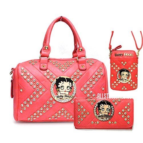 Betty Boop coral quilted pink wallet shoulder boxer cellphone bag 3 pcs set rhinestone Betty Boop http://www.amazon.com/dp/B019GPYPZA/ref=cm_sw_r_pi_dp_ZSNCwb0KEY7TA