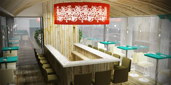 cafe design walls - Google Search