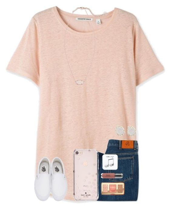 """Add me on Snapchat: kceleste17"" by kari-luvs-u-2 ❤ liked on Polyvore featuring PS Paul Smith, Vans, Kate Spade, Too Faced Cosmetics, Revlon, Happy Plugs and Kendra Scott"