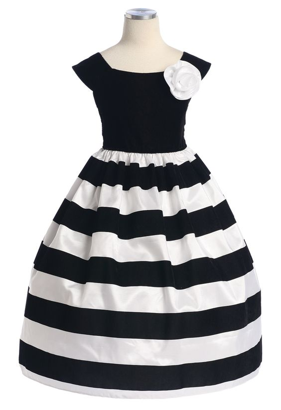 black and white striped dress for girls | Thank Heaven for ...