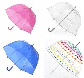 #6: Kids Clear Bubble Umbrella by totes.