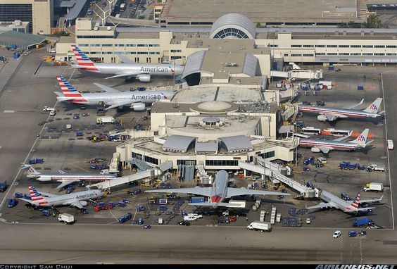 The American Airlines Terminal At Lax T4 With More And More Planes In The New American Livery American Airlines Family Vacation Planning Lego City Airport
