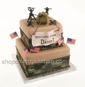 Welcome home cake military welcome home party for Military welcome home party decorations