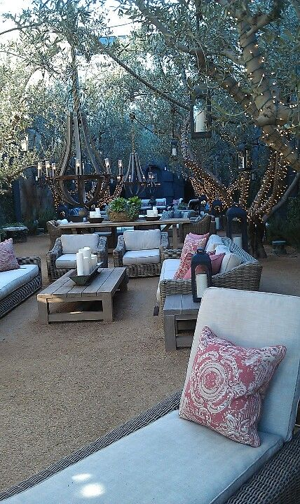 Garden at Restoration Hardware LA: