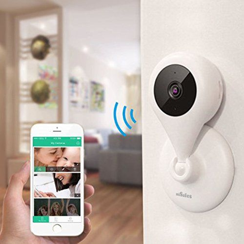 MiSafes 1280x720p HD C303-1 Mini Wireless Surveillance Camera with Microphone Speaker with 2 Way Talk & Remote Monitoring System for iOS & Andriod App, White - $99.99