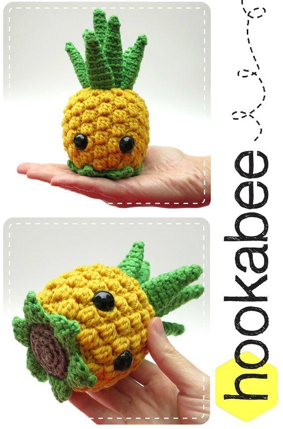 Bill the Pineapple amigurumi crochet pattern by @hookabee: