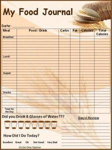 Blank Food Journal Templates | Food Journal Template | Word ...