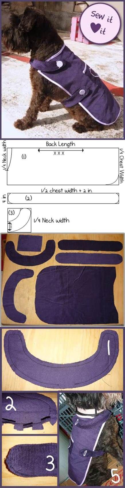 DIY fácil costurar cão casaco 2