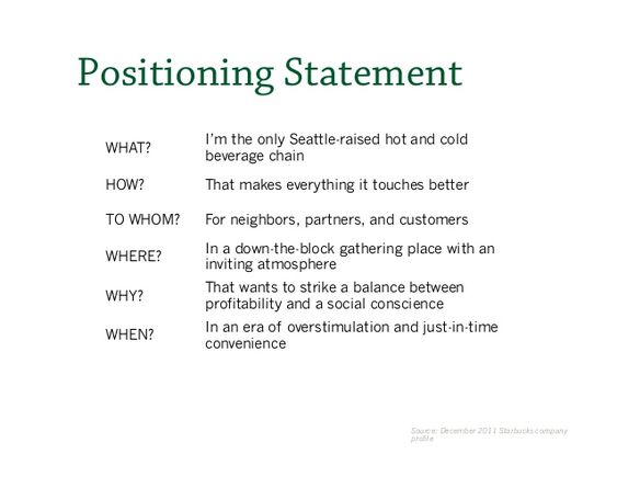 starbucks coffee mission and vision statement