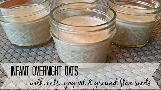 Infant Overnight Oats - Nourishing Baby Food full of probiotics, omegas, antioxidants and aids in weight gain.   Growth spurt | satiating | nourish | baby food | grow | Nourishment | grass fed | rolled oat | fresh fruit | organic | natural | real food 6 7 8 9 10 11 months | baby breakfast