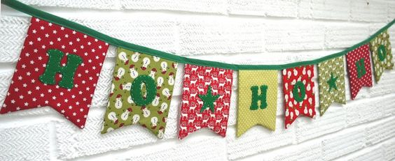 Christmas Bunting HO HO HO - double-sided, high quality reusable LOVE THIS!!!