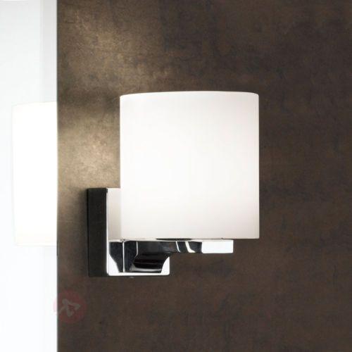 Spiegelleuchte-Miriam-Spiegellampe-Badezimmer-Glas-Opal-Matt-Metall-Chrom-IP44