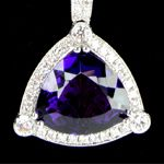 Amethyst Diamond Necklace Ava Alexander