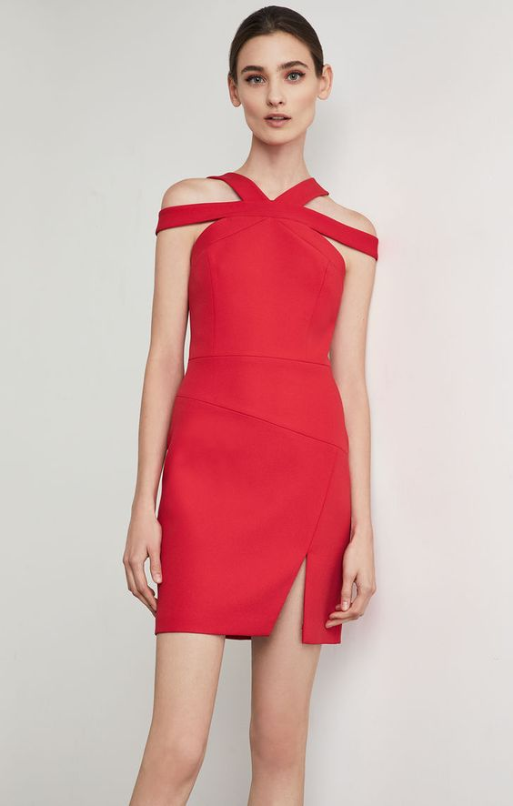 Strappy Cutout Sheath Dress