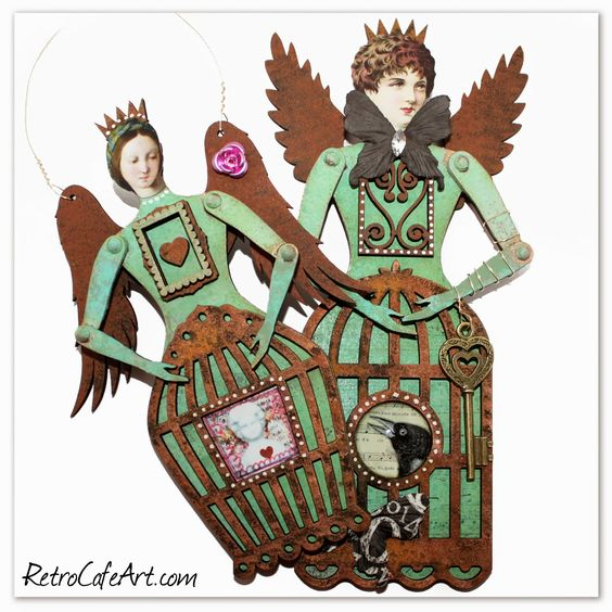 Retro Café Art Gallery: Cool Charms, Santos Doll Inspiration, and more Birdy Fun!