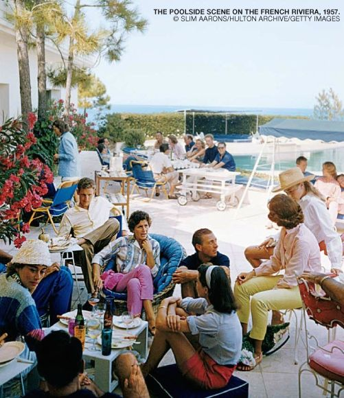 Poolside scene on the French Riviera. Photo by Slim Aarons. From Swans: Legends of the Jet Set Society.: