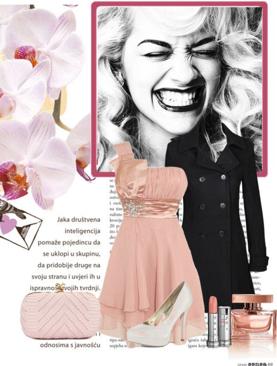 """Pink dress"" by creatingmydesign ❤ liked on Polyvore"