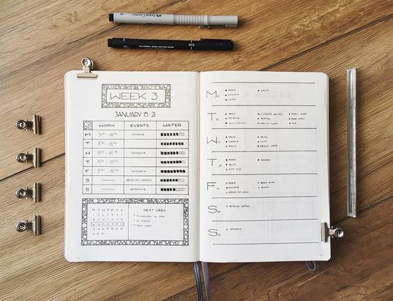 "1,228 Likes, 6 Comments - Marta (@bullet_journalish) on Instagram: ""Before I share with you my new weekly (that is exactly the same layout as this one because I am in…"""