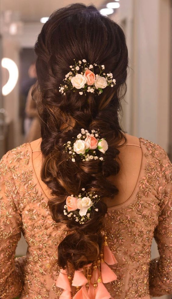 Wedding Hairstyles Indian Wedding Hairstyles Weddinghairstyles Reception Ha In 2020 Bridal Hairstyle For Reception Indian Hairstyles South Indian Wedding Hairstyles