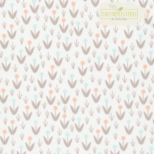 """CLOUD9 Bio Baumwolle """"Dotty Blooms Ivory"""" von Eulenmeisterei - Biostoffe auf DaWanda.com"""