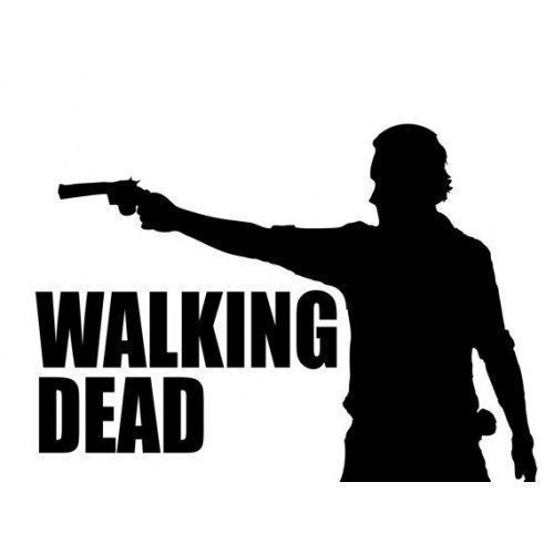 The Walking Dead Rick Grimes Sticker Decal Logo 5 5 Inches Black The Walking Dead Walking Dead Cake Silhouette