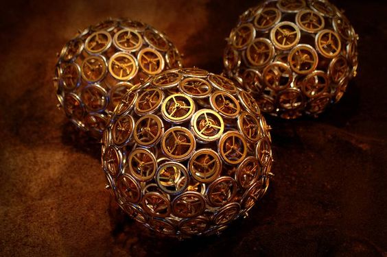 Steampunk Sphere : steampunk christbaumkugel kugel sphere (Bild 1/5)