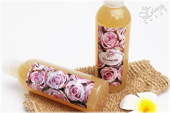 "Bath & Body Shower Gel ""Rose Flower"" with Sweet Almond Oli Protein & Panthenol"