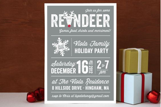 minted.com Holiday Party Invitations