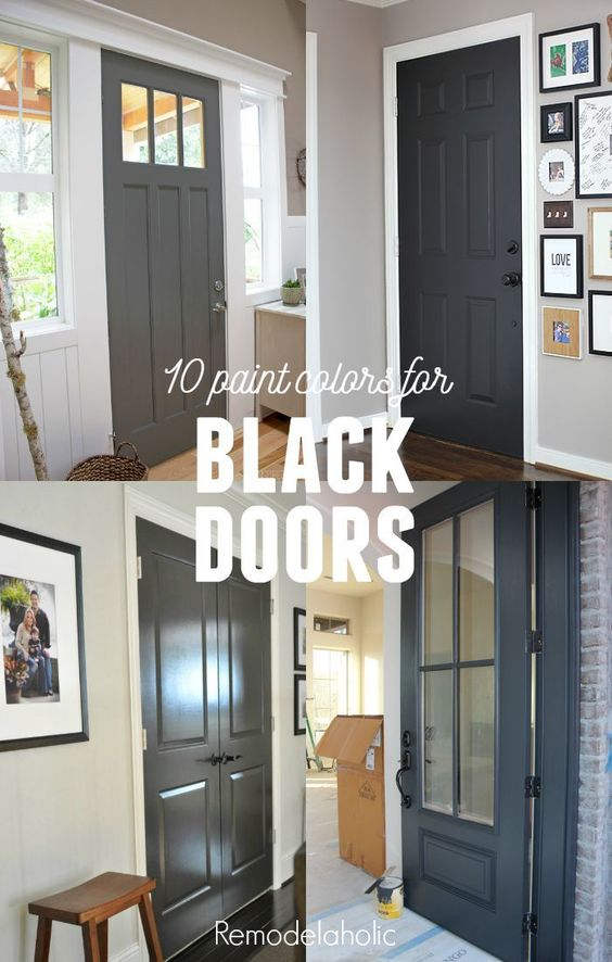 Dark gray paint interior doors and gray paint colors on for Dark grey interior