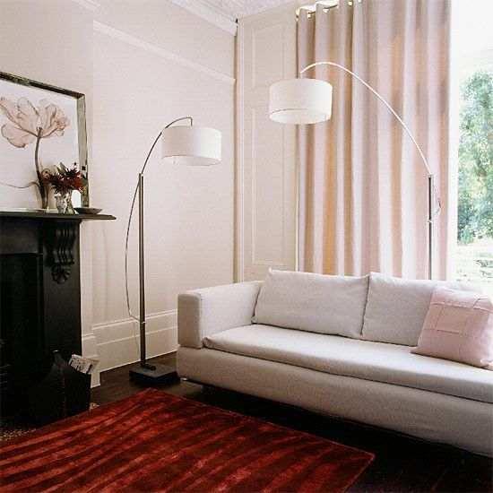 Cream living room | White contemporary design | housetohome.co.uk