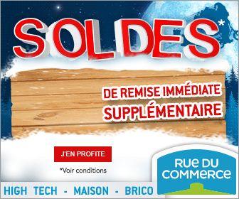En ce moment ce sont les soldes sur RueduCommerce. Code2Promo vous propose un code promo pour profiter de 5% de remise supplémentaire.