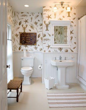 Top wallpaper clarence house la mer beach house for Bathroom wallpaper next