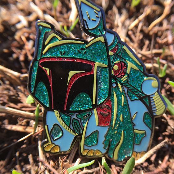 Star Wars BOBA FETT enamel pin lapel badge